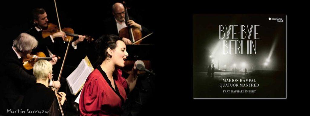 23 novembre 2018 à 18h30 : Showcase Bye Bye Berlin – Marion Rampal & Quatuor Manfred