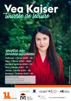 Mercredi 5 février 2020 à 18h30 : Lecture-Rencontre avec Vea Kaiser