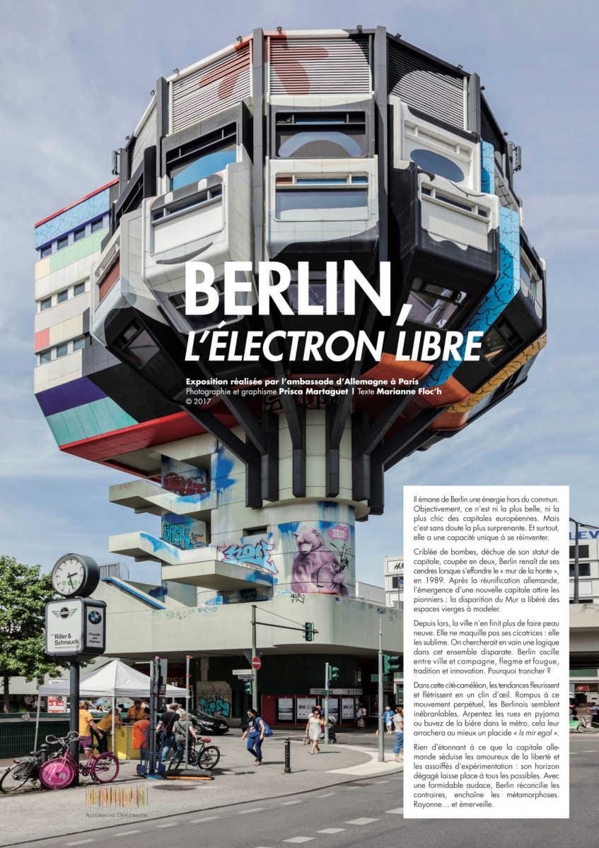 """Du 7 février au 13 mars 2020  : Exposition """"Berlin, l'électron libre"""""""