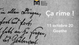 Dimanche 11 octobre 2020 à 11h  : Première rencontre Ça rime ! – Goethe