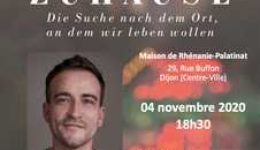 Mercredi 4 novembre 2020 à 18h30 : Lecture-Rencontre avec Daniel Schreiber