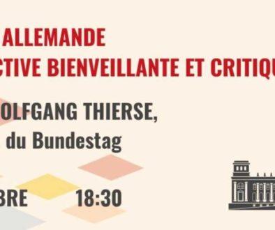 Mardi 8 décembre 2020 à 18h30 : Conférence avec Wolfgang Thierse (en ligne)