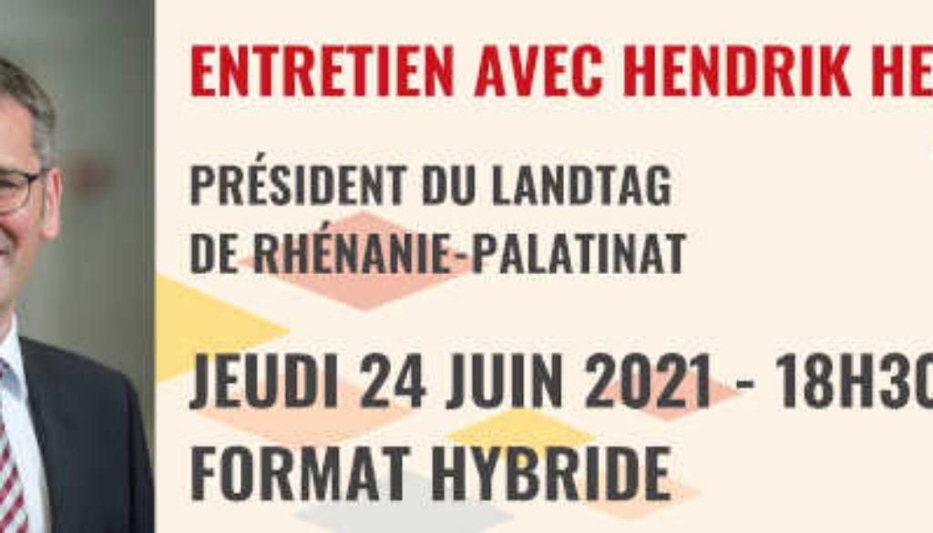 À ne pas manquer : Jeudi 24 juin 2021 à 18h30 : Entretien avec Hendrik Hering (format hybride) | Samedi 26 juin 2021 de 14h à 17h : Kinder Sommerfest et Mercredi 7 juillet 2021 à 19h : Garten Stammtisch