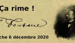 Dimanche 6 décembre 2020 à 11h : Troisième rencontre Ça rime ! – Fontane