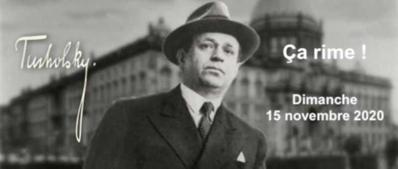 Dimanche 15 novembre 2020 à 11h : Deuxième rencontre Ça rime ! – Tucholsky