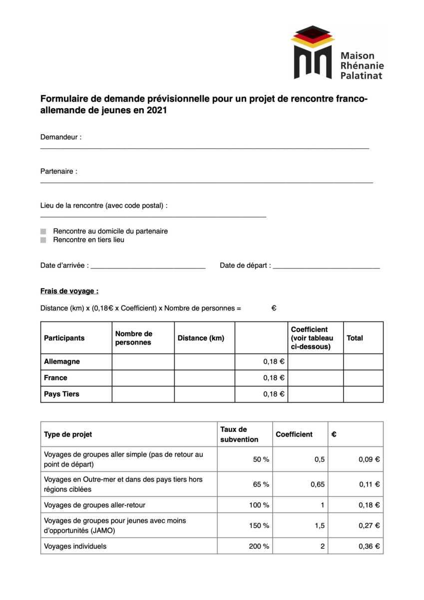 Dernière ligne droite pour les demandes de subvention prévisionnelles pour les projets franco-allemand en 2021