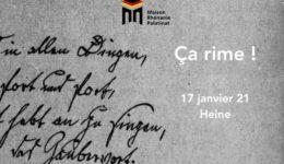 Dimanche 17 janvier 2021 à 11h : Quatrième rencontre Ça rime ! – Heine