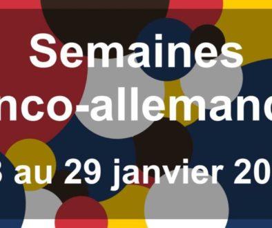 Du 18 au 29 janvier 2021 : Semaines Franco-Allemandes (en ligne)
