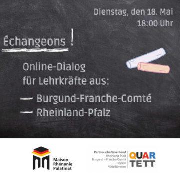 Mardi 18 mai 2021 à 18h : Échangeons ! Dialogue entre enseignant.e.s (en ligne)