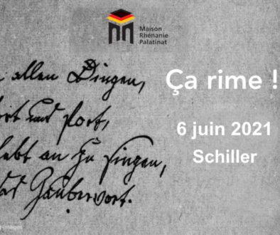 Dimanche 6 juin 2021 à 11h : Huitième rencontre Ça rime ! – Schiller
