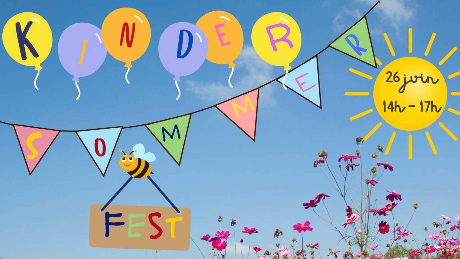 Samedi 26 juin 2021 de 14h à 17h : Kinder Sommerfest