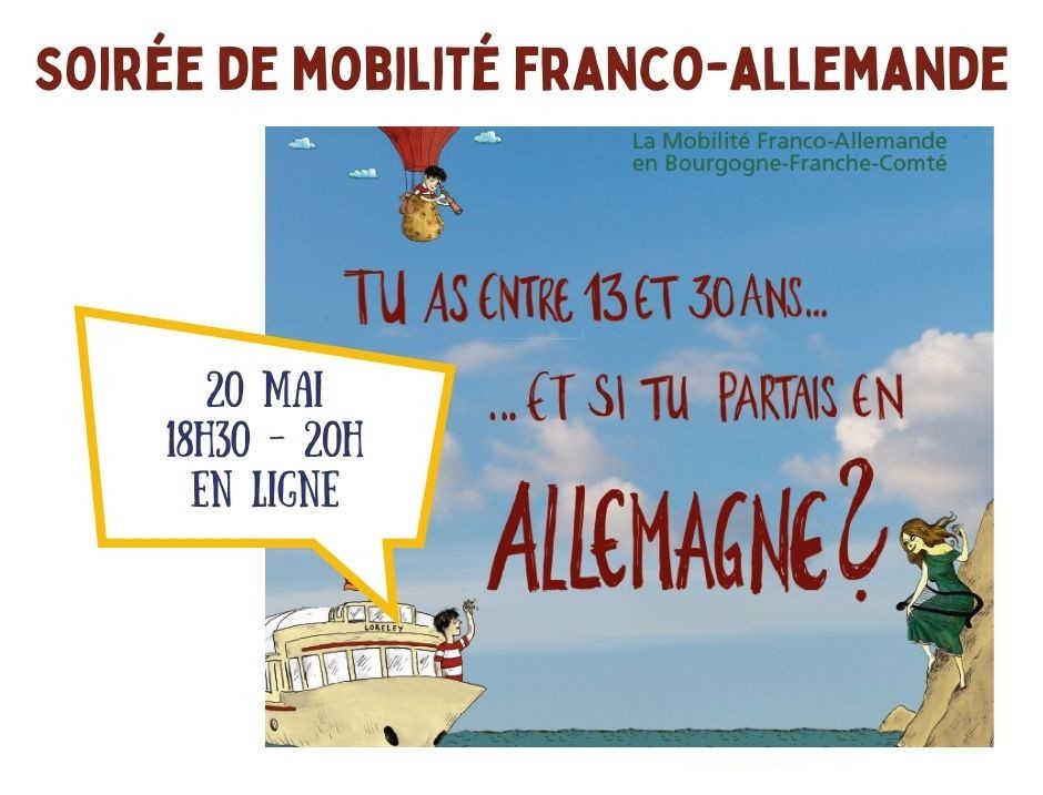 Mardi 20 mai 2021 à 18h30 : Soirée de la mobilité (en ligne)