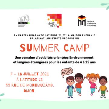 Summer Camp – du 7 au 16 juillet 2021