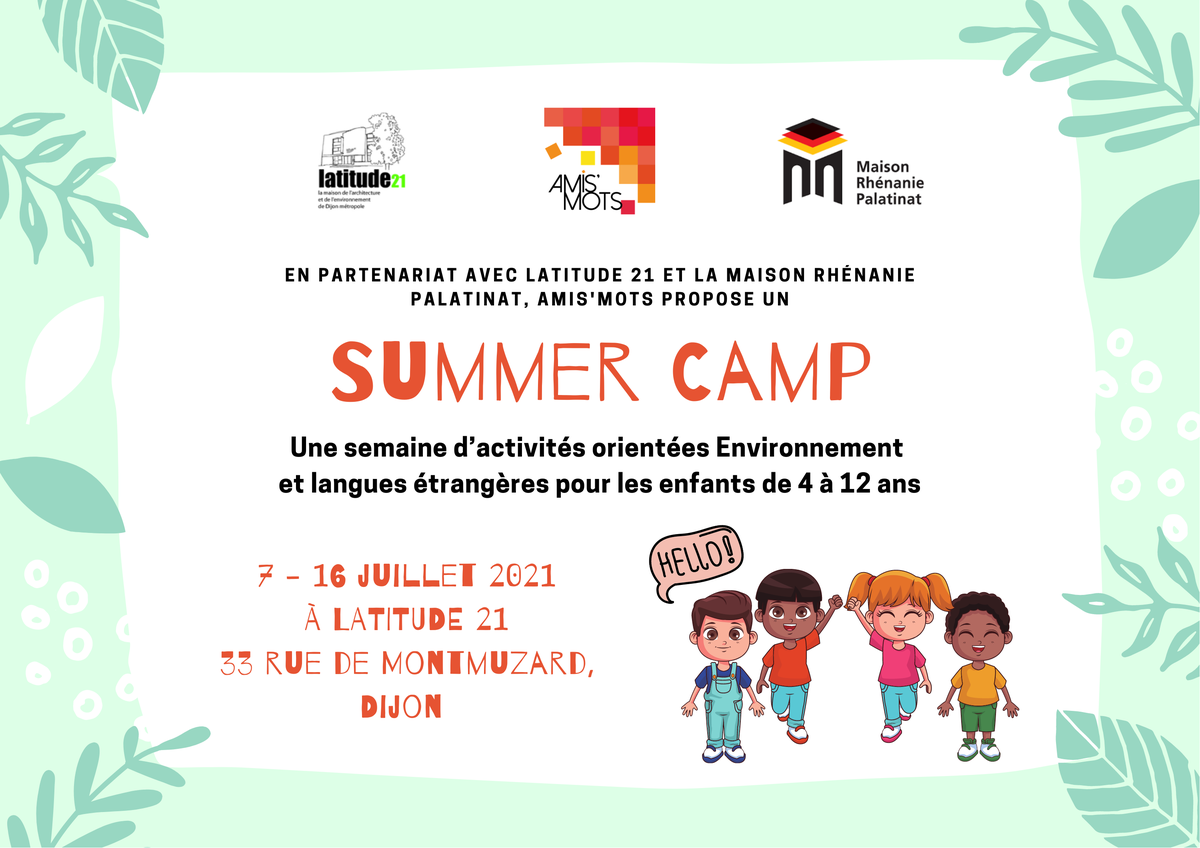 Summer Camp – du 7 au 16 juillet 2021
