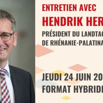 Jeudi 24 juin 2021 à 18h30 : Entretien avec Hendrik Hering