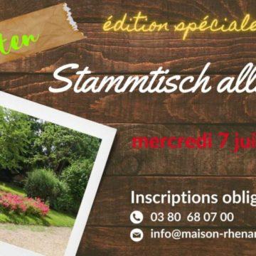 Mercredi 7 juillet 2021 à 19h30 : Garten Stammtisch Allemand (spécial été 2021)