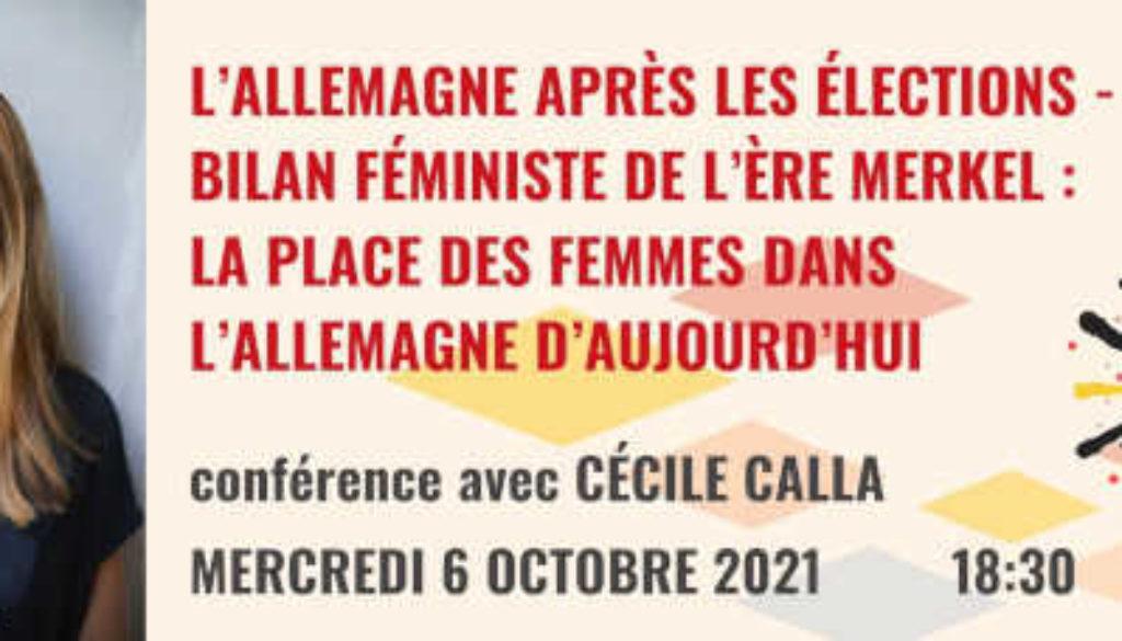 À ne pas manquer : Mercredi 6 octobre 2021 à 18h30 – Conférence avec Cécile Calla