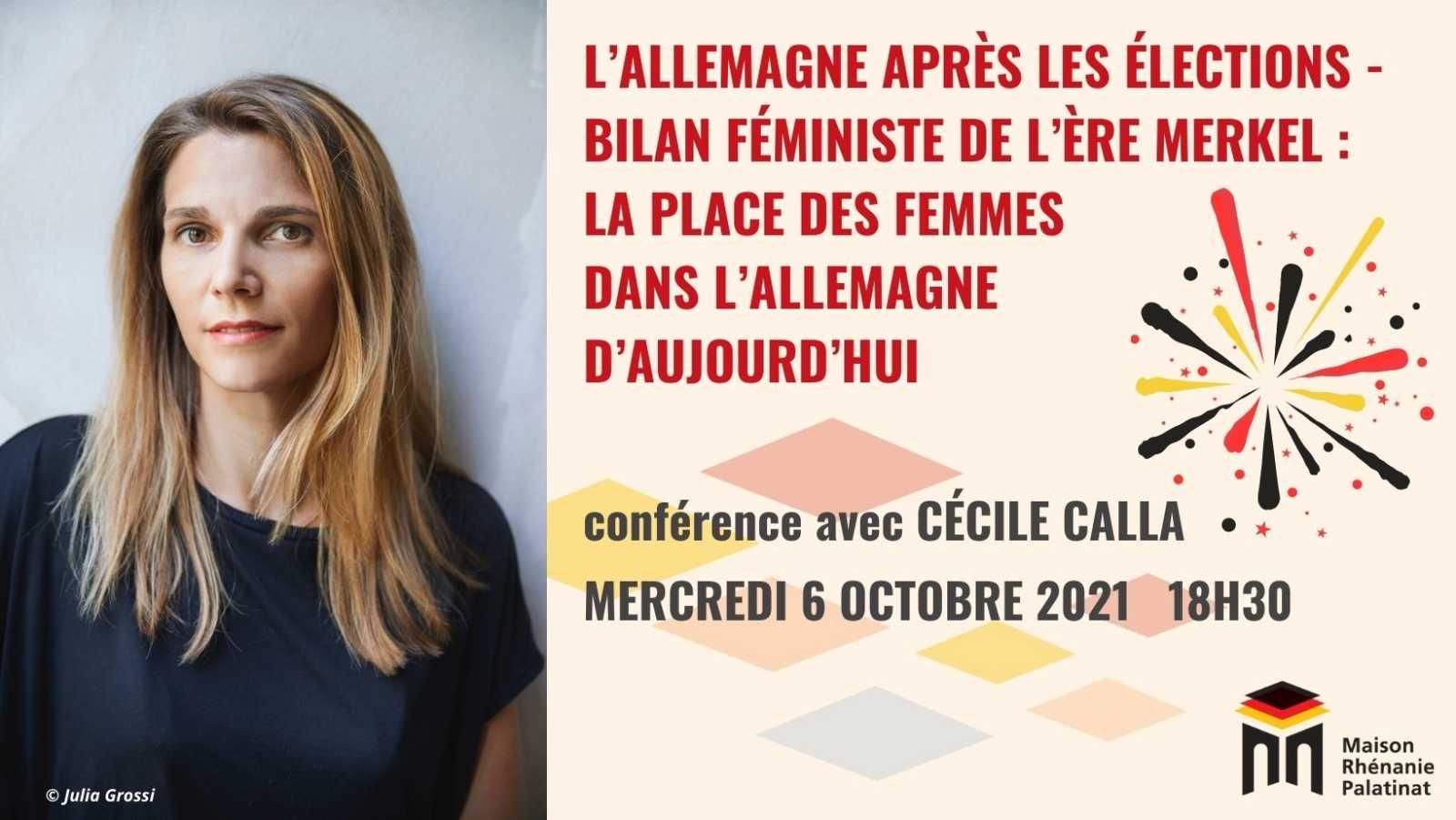 Mercredi 6 octobre 2021 à 18h30 : Conférence avec Cécile Calla
